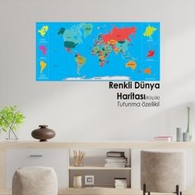 Renkli Dunya Haritasi Kucuk